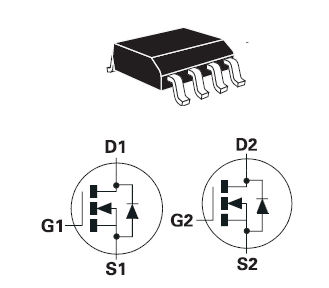 ZXMN3A04DN8, DUAL 30V N-CHANNEL ENHANCEMENT MODE MOSFET